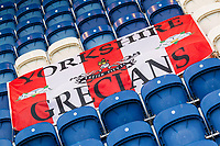 Exeter City Banner, the Yorkshire Grecians on display during Colchester United vs Exeter City, Sky Bet EFL League 2 Football at the JobServe Community Stadium on 24th November 2018