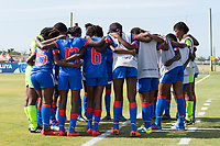 Bradenton, FL - Friday, June 08, 2018: Haiti during a U-17 Women's Championship match between Mexico and Haiti at IMG Academy.