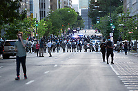 Military police line the street during a protest near the White House in Washington, D.C., U.S., on Monday, June 1, 2020, following the death of an unarmed black man at the hands of Minnesota police on May 25, 2020.  More than 200 active duty military police were deployed to Washington D.C. following three days of protests.  Credit: Stefani Reynolds / CNP/AdMedia