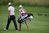 Carlos Del Moral (ESP) and caddie girlfriend head down the 16th during Round Three of The Tshwane Open 2014 at the Els (Copperleaf) Golf Club, City of Tshwane, Pretoria, South Africa. Picture:  David Lloyd / www.golffile.ie