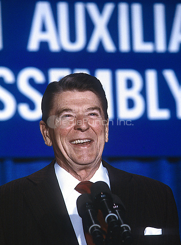 Washington DC., USA, 1984<br /> President Ronald Reagan portraits Credit: Mark Reinstein/MediaPunch