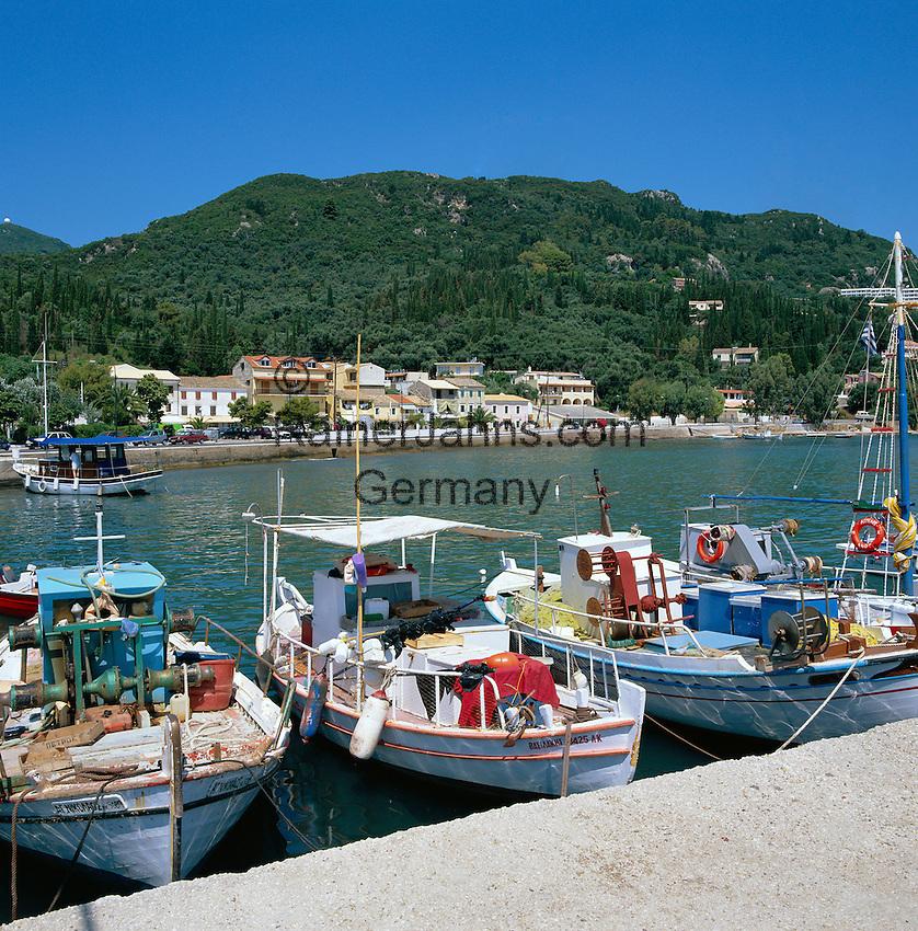 Greece, Corfu, Benitses: Harbour View at East Coast | Griechenland, Korfu, Benitses: Hafen an der Ostkueste