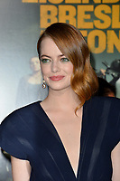 "LOS ANGELES, USA. October 11, 2019: Emma Stone at the premiere of ""Zombieland: Double Tap"" at the Regency Village Theatre.<br /> Picture: Paul Smith/Featureflash"
