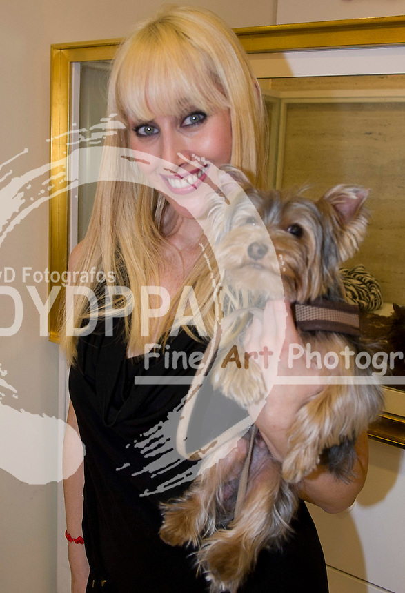 13/02/2013. Madrid. Spain. Serrano Gardens. Pets party with famous people. Inocemce