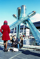 Olympic Cauldron at Jack Poole Plaza, Downtown Vancouver, BC, British Columbia, Canada