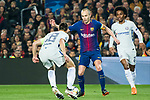 Andres Iniesta Lujan (R) of FC Barcelona fights for the ball with Cesar Azpillicueta of Chelsea FC during the UEFA Champions League 2017-18 Round of 16 (2nd leg) match between FC Barcelona and Chelsea FC at Camp Nou on 14 March 2018 in Barcelona, Spain. Photo by Vicens Gimenez / Power Sport Images