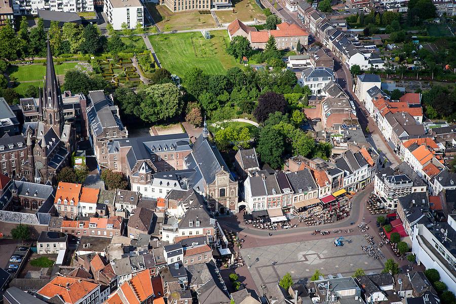Nederland, Limburg, Gemeente Sittard-Geleen, 27-05-2013; centrum van Sittard met Markt en Sint Michaelskerk <br /> Town centre Sittard.<br /> luchtfoto (toeslag op standaardtarieven);<br /> aerial photo (additional fee required);<br /> copyright foto/photo Siebe Swart.