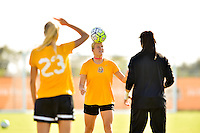 Houston, TX - Friday Oct. 07, 2016: Western New York Flash  during training prior to the National Women's Soccer League (NWSL) Championship match between the Washington Spirit and the Western New York Flash at Houston Sports Park.