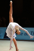 Anna Bessonova of Ukraine handsfree performs back flexion during gala exhibition at 2006 Thiais Grand Prix in Paris, France on March 26, 2006.  (Photo by Tom Theobald)