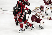 Maddie Hartman (NU - 27), Ryan Little (BC - 20) -  The Boston College Eagles defeated the Northeastern University Huskies 2-1 in overtime to win the 2017 Hockey East championship on Sunday, March 5, 2017, at Walter Brown Arena in Boston, Massachusetts.