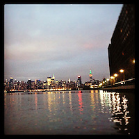 The New York City skyline on Christmas Day as seen from Hoboken, NJ, December 25, 2012.