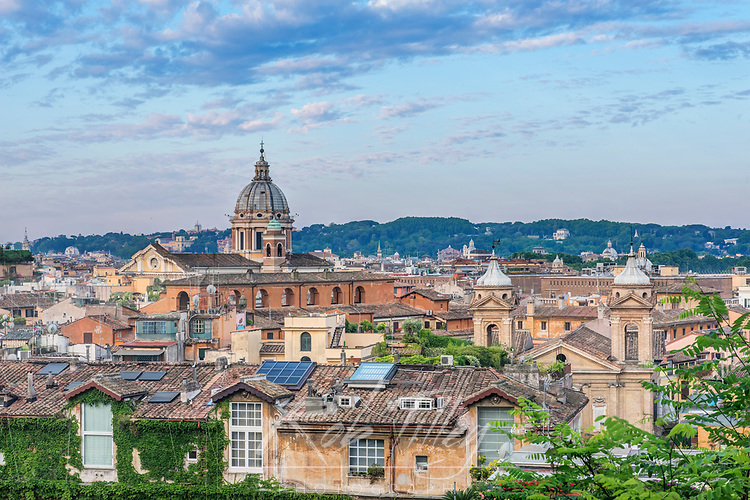 Europe, Italy, Rome, City Rooftops