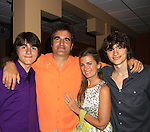 "John and Fiona pose with sons Trevor and Hutch (R- older) on Opening Night - God of Carnage - June 21, 2012 and continues through August 3. Fiona Hutchison (Guiding Light, One Life To Live) and husband John Viscardi (One Life To Live) star in ""God of Carnage"" directed by Roy Steinberg (GL, Days, AMC - director-producer) at The Cape May Stage in Cape May, New Jersey. (Photo by Sue Coflin/Max Photos)"