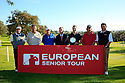 Top 6 qualifiers together with Andy Stubbs, Managing Director of the European Senior Tour  after the final round of the European Senior Tour Qualifying School Finals played at Pestana Pinta Resort on 31st January 2013 in Carvoeiro, Algarve, Portugal. (Picture Credit / Phil Inglis)