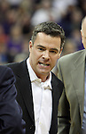 Tony Bennett, Washington State Head Basketball Coach, shows his displeasure with a 4th foul call on one of his players during the Cougars Pac-10 conference showdown with the University of Washington on March 7, 2009, in Seattle, Washington.  Both teams came in to the game on a roll, and in a hard fought battle, the Huskies prevailed 67-60 to wrap up the regular season Pac-10 championship.
