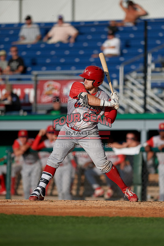 Williamsport Crosscutters Rudy Rott (26) at bat during a NY-Penn League game against the Batavia Muckdogs on August 25, 2019 at Dwyer Stadium in Batavia, New York.  Williamsport defeated Batavia 10-3.  (Mike Janes/Four Seam Images)