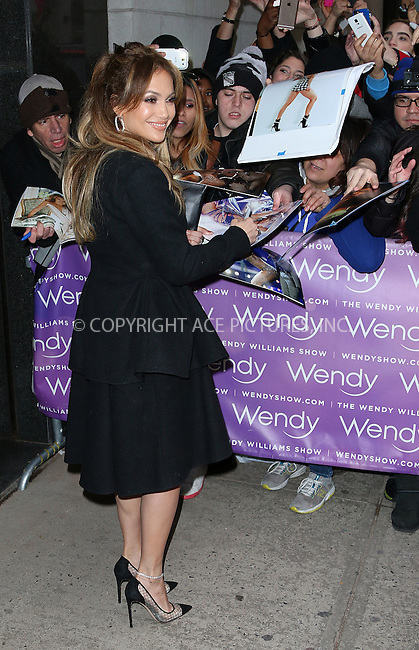 WWW.ACEPIXS.COM<br /> <br /> January 20 2015, New York City<br /> <br /> Actress and singer Jennifer Lopez made an appearance at 'The Wendy Williams Show' on January 20 2015 in New York City<br /> <br /> By Line: Zelig Shaul/ACE Pictures<br /> <br /> <br /> ACE Pictures, Inc.<br /> tel: 646 769 0430<br /> Email: info@acepixs.com<br /> www.acepixs.com
