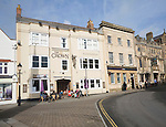 Crown Hotel in historic Market Place, Glastonbury, Somerset, England