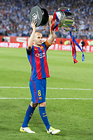 FC Barcelona's midfielder Andres Iniesta during Copa del Rey (King's Cup) Final between Deportivo Alaves and FC Barcelona at Vicente Calderon Stadium in Madrid, May 27, 2017. Spain.<br /> (ALTERPHOTOS/BorjaB.Hojas) /NortePhoto.com