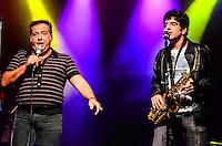 ATENCAO EDITOR: FOTO EMBARGADA PARA VEICULOS INTERNACIONAIS. - RIO DE JANEIRO, RJ,14 DE SETEMBRO 2012 - RIO HARLEY DAYS 2012-Nasi e o saxofonista George Israel na abertura do Harley Days 2012, sucesso na Espanha, Franca, Alemanha e Croacia, o evento desembarca para sua segunda edicao no Brasil, na Marina da Gloria, na Gloria, zona sul do Rio de Janeiro.(FOTO: MARCELO FONSECA / BRAZIL PHOTO PRESS).