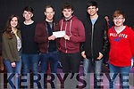 Fleadh By The Feale Street Busking Competition held last Friday night &quot;R&uacute;nda&quot; winners in the Senior category. <br /> L-R Moira O' Connor, Conor Daly, Padraig Enright, Emmett Stenn, Mich&eacute;al Broderick pictured with sponsor Gerard Ward of ProActive Finance ( All from Abbeyfeale).