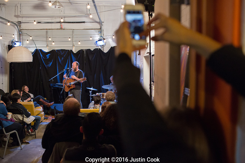 Clay Brook performs at Mercury Studio Listening Room in Durham, NC on Friday, December 9, 2016. (Justin Cook)