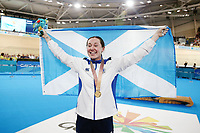 Katie Archibald of Scotland wins gold in the Women's 3000m Individual Pursuit. Gold Coast 2018 Commonwealth Games, Track Cycling, Anna Meares Velodrome, Brisbane, Australia. 6 April 2018 © Copyright Photo: Anthony Au-Yeung / www.photosport.nz/SWpix.com /SWpix.com