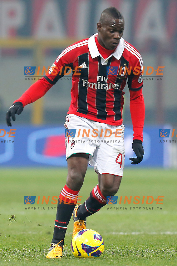 "Mario Balotelli Milan, Milano 15/2/2013 .Stadio ""S.Siro"".Football Calcio 2012/2013 Serie A.Milan Vs Parma.Foto Marco Bertorello Insidefoto"