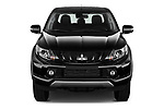 Car photography straight front view of a 2019 Mitsubishi L200 Black Collection Plus 4 Door Pick Up