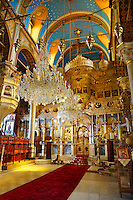 The unusual Baroque interior of the Greek Orthodox Metropolitan Cathedral of the Metamorphosis,  Ermoupolis, Syros Island [ ????? ] , Greek Cyclades Islands