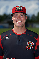 Batavia Muckdogs Brent Wheatley (23) poses for a photo before a game against the West Virginia Black Bears on June 26, 2017 at Dwyer Stadium in Batavia, New York.  Batavia defeated West Virginia 1-0 in ten innings.  (Mike Janes/Four Seam Images)