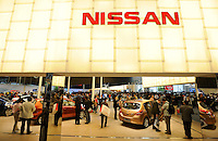Nissan at the Auto China 2008 in Beijing. The car show has attracted all the world's major auto markers. Vehicle production and sales both surged more than 20 percent to a record 8.8 million units in China last year. Analysts forecast that both China's auto output and sales will continue to expand at double-digit rates in 2008 to 10 million as the economy grows rapidly and the government tries to encourage people to spend money..24 Apr 2008