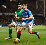 05.02.2020 Rangers v Hibs: Darren McGregor and Greg Stewart