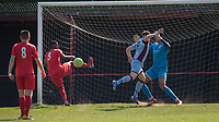 Will Dawes of Tuffley Rovers goes close with shot at goal during the UHLSport Hellenic Premier League match between Flackwell Heath v Tuffley Rovers at Wilks Park, Flackwell Heath, England on 20 April 2019. Photo by Andy Rowland.