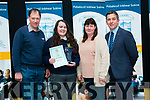 Joanne McCarthy, pictured with her parents Denis and Sharon McCarthy and the school principal Dermot Healy, who received the Student Of The Year 2017 Award in Pobalscoil Inbhear Scéine.