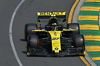 March 16, 2019: Nico Hulkenberg (DEU) #27 from the Renault F1 Team rounds turn 2 during practice session three at the 2019 Australian Formula One Grand Prix at Albert Park, Melbourne, Australia. Photo Sydney Low