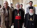 Iraq 2014              <br /> In the monastery of Mar Matta with Bishop Moses Aziz Al Shamany, Hamid Effendi and his peshmergas <br /> Irak 2014 <br /> Au monastere syriac orthodox de Saint Matthieu, l'eveque Mgr.Moses Aziz Al Shamany et Hamid Effendi avec ses peshmergas
