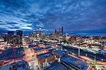Calgary, Alberta, Canada at night.