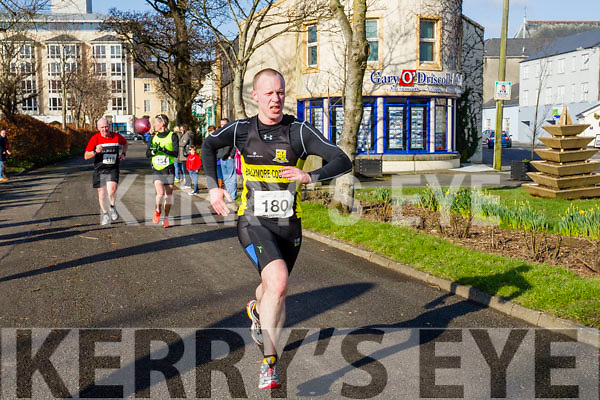 Cyril Power, Chris Grayson and Kenneth Hickey, participants in the Kerry's Eye Valentines Weekend 10 mile road race on Sunday.