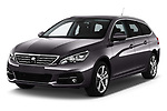 2018 Peugeot 308 SW Allure 5 Door Wagon angular front stock photos of front three quarter view