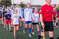 Boston, MA - Friday August 04, 2017: Julie King with two sidekicks during a regular season National Women's Soccer League (NWSL) match between the Boston Breakers and FC Kansas City at Jordan Field.