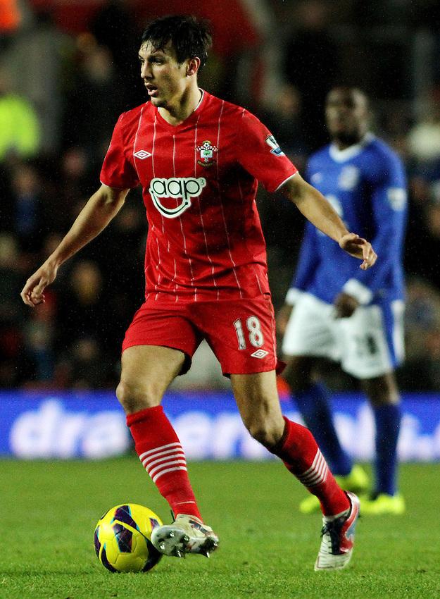 Southampton's Jack Cork...- Credit - CameraSport - James Marsh - ..Football - Barclays Premiership - Southampton v Everton - Monday 21st January 2013 - St Mary's - Southampton..