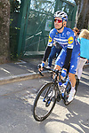 Julian Alaphilippe (FRA) Deceuninck-Quick Step heads to sign on before the start of Strade Bianche 2019 running 184km from Siena to Siena, held over the white gravel roads of Tuscany, Italy. 9th March 2019.<br /> Picture: Seamus Yore | Cyclefile<br /> <br /> <br /> All photos usage must carry mandatory copyright credit (© Cyclefile | Seamus Yore)