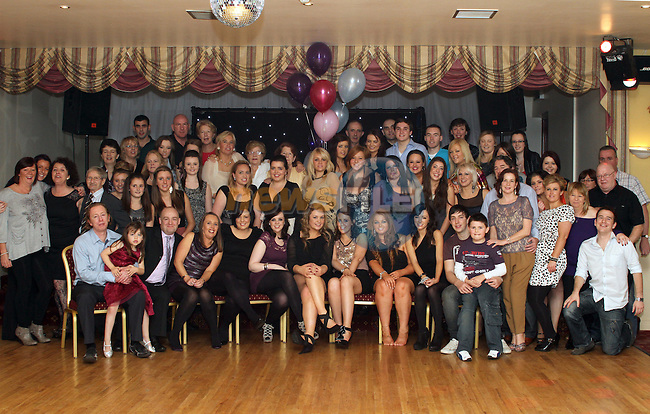 Sarah Morris with friends and family at her 21st in The Glenside Hotel...(Photo credit should read Jenny Matthews www.newsfile.ie)....This Picture has been sent you under the conditions enclosed by:.Newsfile Ltd..The Studio,.Millmount Abbey,.Drogheda,.Co Meath..Ireland..Tel: +353(0)41-9871240.Fax: +353(0)41-9871260.GSM: +353(0)86-2500958.email: pictures@newsfile.ie.www.newsfile.ie.