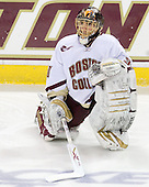Chris Venti (BC - 30) - The Boston College Eagles defeated the University of Massachusetts-Amherst Minutemen 6-5 on Friday, March 12, 2010, in the opening game of their Hockey East Quarterfinal matchup at Conte Forum in Chestnut Hill, Massachusetts.