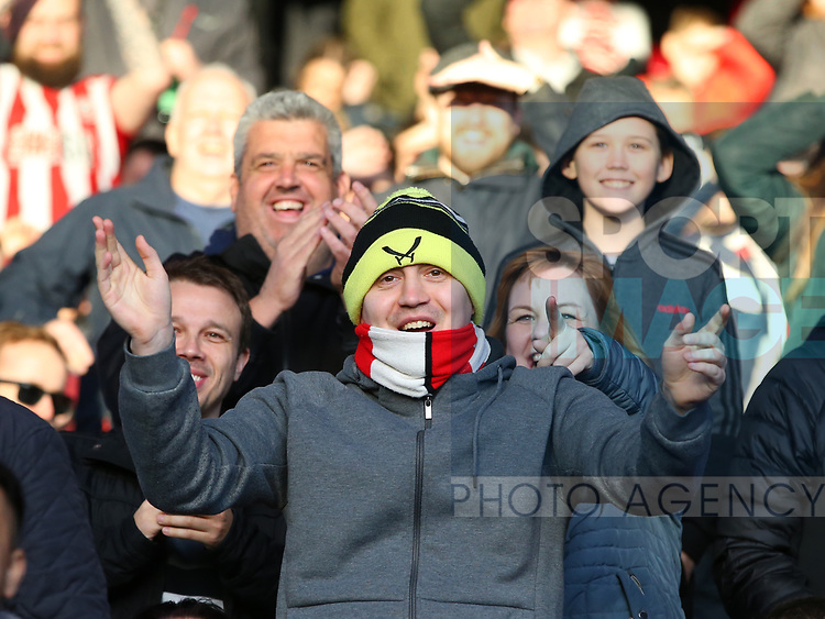 Sheffield Utd fans for fans feature during the Premier League match at Selhurst Park, London. Picture date: 1st February 2020. Picture credit should read: Paul Terry/Sportimage