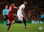 Emre Can of Liverpool challenges Steven N'Zonzi of Sevilla during the Champions League Group E match at the Anfield Stadium, Liverpool. Picture date 13th September 2017. Picture credit should read: Simon Bellis/Sportimage