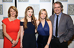 Mona Juul and Bartlett Sher with their daughters attend the Opening Night Performance press reception for the Lincoln Center Theater production of 'Oslo' at the Vivian Beaumont Theater on April 13, 2017 in New York City.