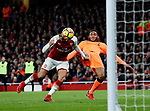 Arsenal's Alexis Sanchez scoring his sides opening goal during the premier league match at the Emirates Stadium, London. Picture date 22nd December 2017. Picture credit should read: David Klein/Sportimage