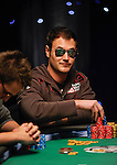 Tobias Reinkemeier is the chip leader on the final table in level 21.